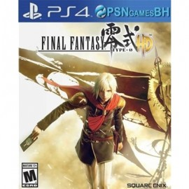 FINAL FANTASY TYPE-0 PSN PS4 CONTA SECUNDARIA