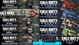 Packs cod ghosts PS3 PSN
