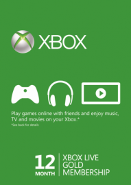 XBOX Live Gold 12 Meses - 25 digitos