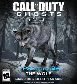 Call of duty ghosts Wolf Skin PSN PS3