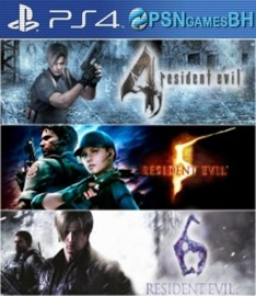 Pacote Triplo Resident Evil VIP PS4